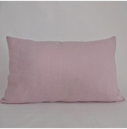 Rosa kuddfodral 40x60