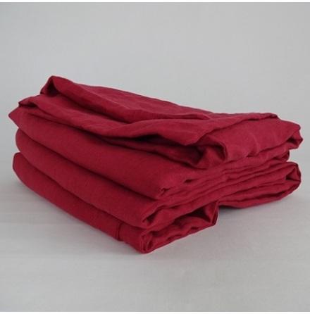 Rött påslakan i linne