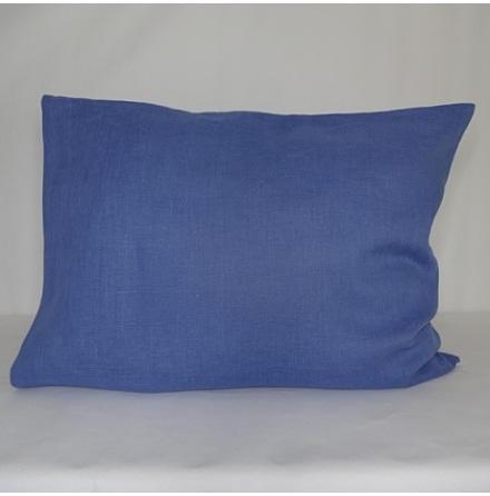 Ljusblått örngott i linne