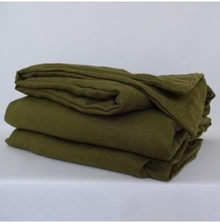 Grönt påslakan i linne